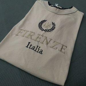 🌐$10 SALE Vintage Firenzi Italy T Shirt XXL